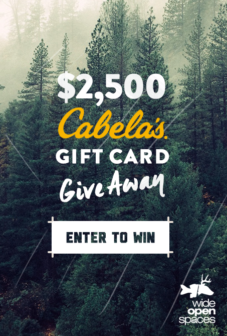 viralsweeps453x669 - Wide Open Spaces $2,500 Cabelas Giftcard Sweepstakes